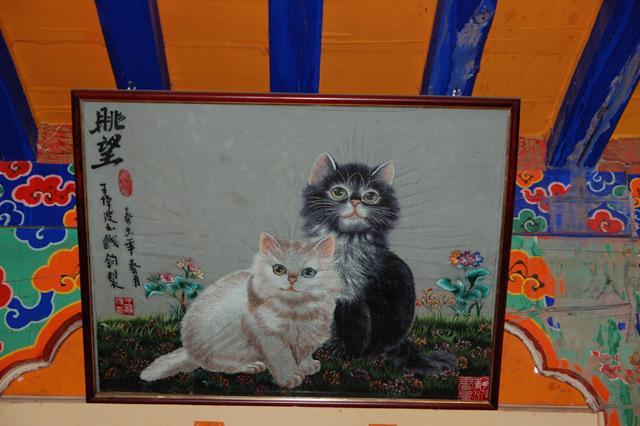Картина с котиками во дворце Потала