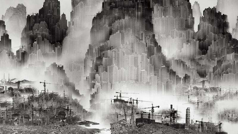 Экологичный шаньшуй: 山非山, 水非水. Социальный плакат JWT Shanghai