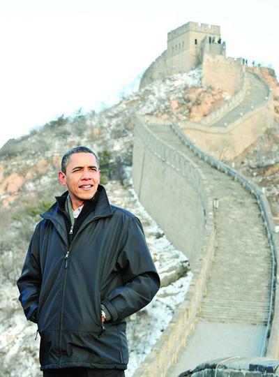 Барак Обама посетил Великую китайскую стену