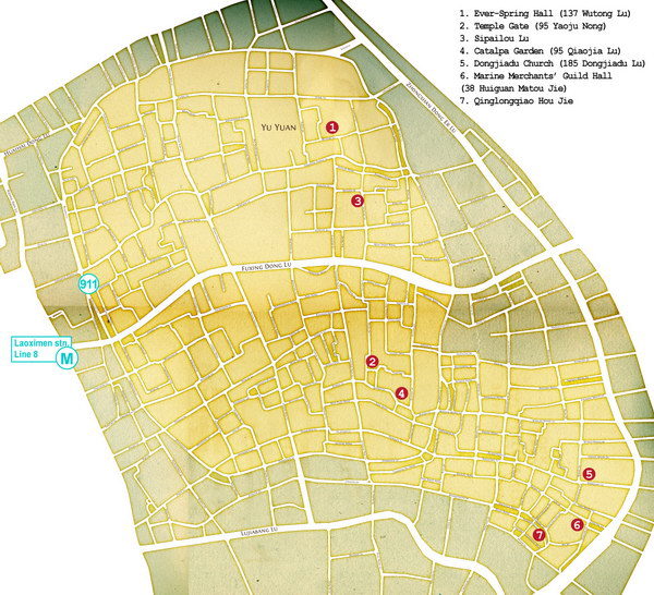 Карта: Старый город Шанхай / Интервью Елены Килиной с Катей Князевой