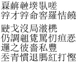 Мини-загадка: Часть иероглифов выглядит как  и должно, часть - нет. Кто сможет понять смысл текста?