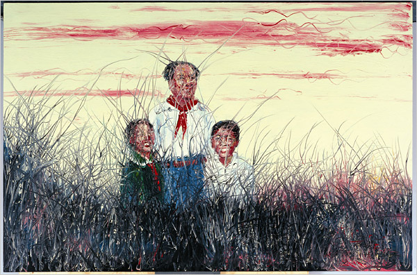 chairman Mao with us by zeng fanzhi