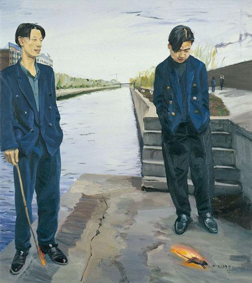 Liu Xiaodong burning mouse 1998