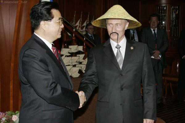 Путин-китаец. Фотожаба жж-пользователя wunder_bar