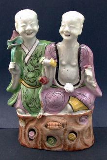 Chinese group of gods of mirth (Hehe Erxian), Qianlong (1736-95)