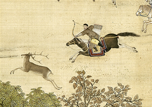 Giuseppe Castiglione (Lang Shining) Hunting Journey on Horseback (1740)