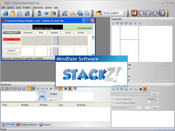 Stackz Flashcard Organizer v7.1 программы по китайскому языку в Магазете