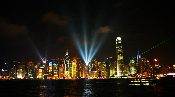 Вид на остров Гонконг