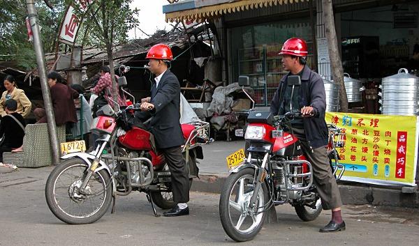Мототакси в Китае