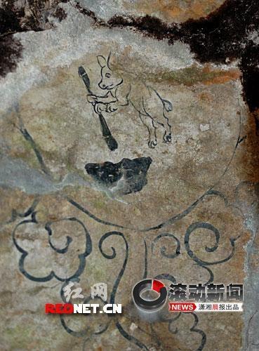 Древняя фреска в арочной гробнице северной династии Сун. Провинция Хунань. Гор. Шаоян
