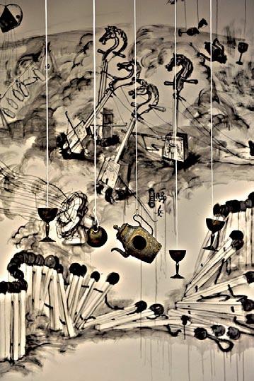 """Комментарии Цю к ""Празднику фонарей"", Цю Чжицзе, фрагмент инсталляции"