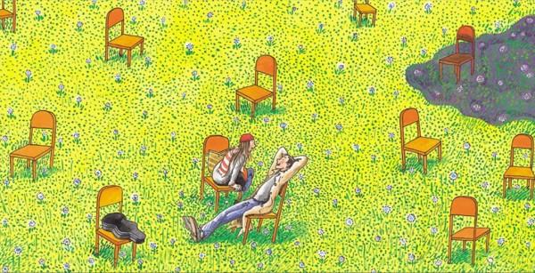 Налево-направо (1999) / Рисунок китайского художника Ляо Фубиня
