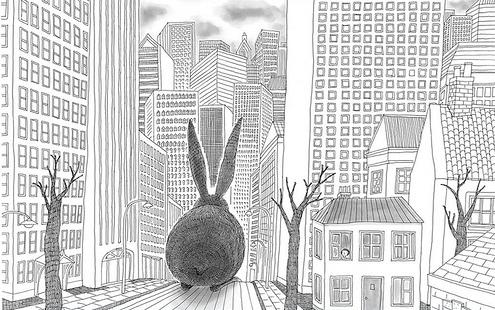 """Иллюстрация к """"Сказкам леса"""" / Ляо Фубинь, китайский художник"""