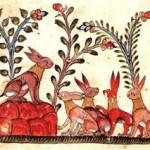 Сирийская рукопись 14 века. «Заяц и луна»