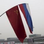 И наши флаги гордо реяли над прямой