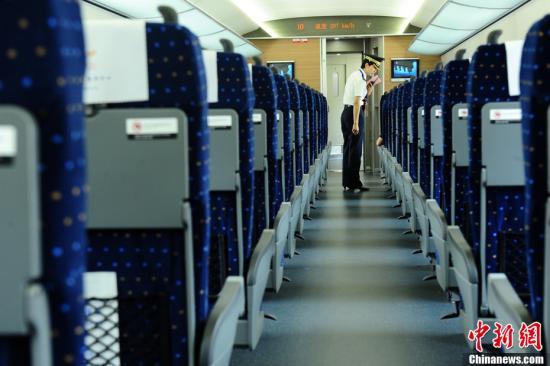 Внутри китайского скоростного поезда G