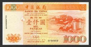 Банк Китая, 1000 патак 1995 г