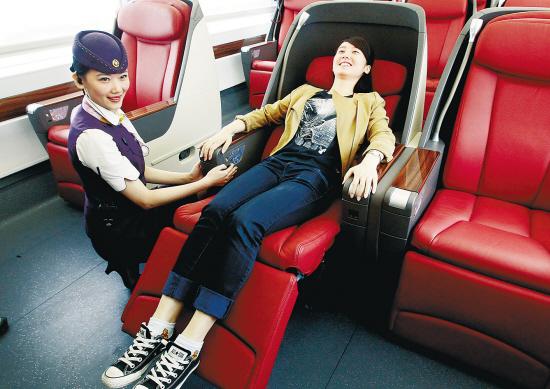 Кресло в бизнес-классе китайского скоростного поезда G