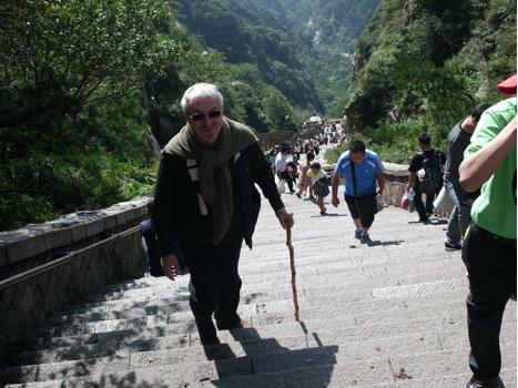 Восхождение на Тайшань. 6600 ступенек, а далее ворота, на которых надпись «Место, где обретешь бессмертие».