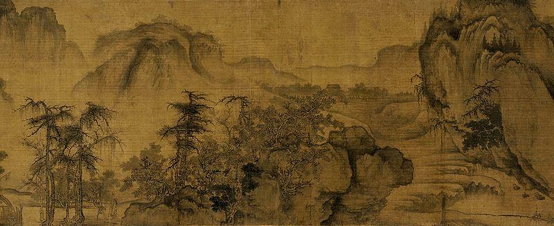 Го Си. Осень в долине реки. Фрагмент свитка. 11в. Галерея Фрир, Вашингтон.
