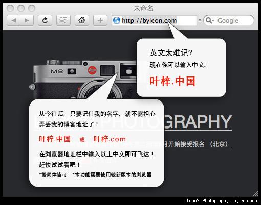 Реклама китайских доменов (IDN) из блога byleon.com - Магазета