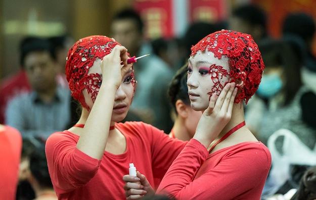 Китайское новогоднее телешоу на CCTV. За сценой.