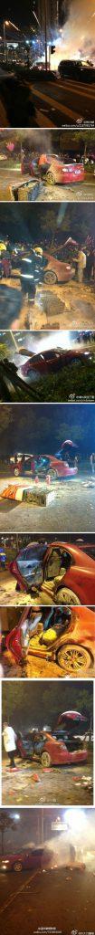 В Китае новогодние петарды подорвали автомобиль