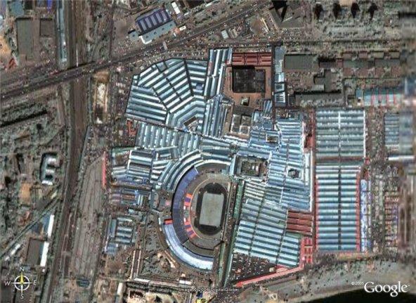 Черкизон. Вид из космоса