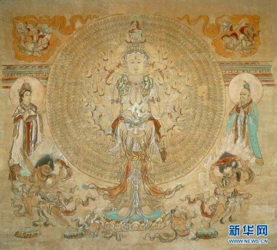 Копия настенной картины в пещере Дуньхуан