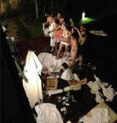 На приватной китайской вечеринке для богачей и моделей было использовано 2000 презервативов