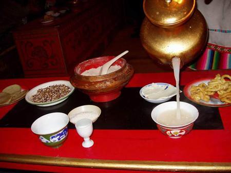 Казахский молочный чай