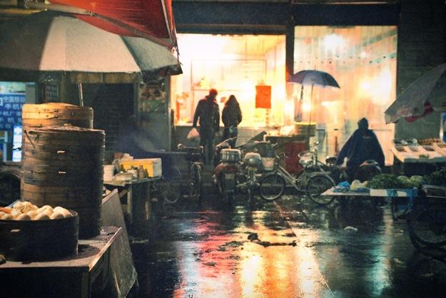 Рынок вечером