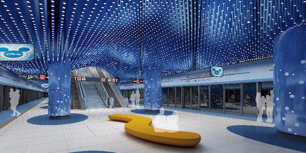 """В Шанхае выбирают лучший дизайн станции метро """"Диснейленд"""""""