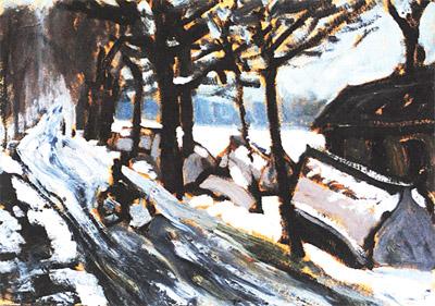 Вэй Хай. Зима в парке Хоухай. 1982
