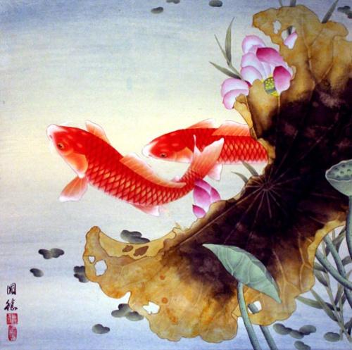 Наиболее благоприятными считаются рыбы ярко красного цвета.