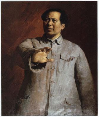 """""""Мао Цзэдун на декабрьской конференции"""", Цзинь Шанъи, 1961"""
