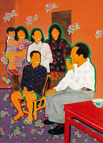 """""""Председатель Мао беседует с крестьянами в Шаошани"""", Юй Юхань, 1989"""