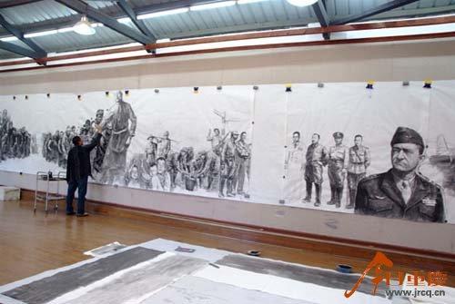 Лоу Шань на созданием произведения, которое оказалось для него последним
