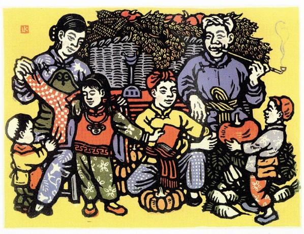 """""""Всего в достатке"""", 1944 г. Обратите внимание на маленькую красную книжечку в руке у девочки."""