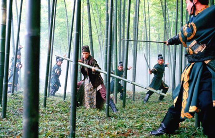Кадр из фильма «Дом летающих кинжалов», 2004 г.