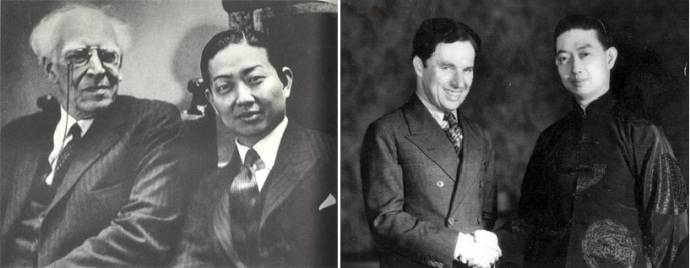 Мэй Ланьфан и К.С.Станиславский, а также Ч. Чаплин. Фото: blog.sina.com.cn и www.duitang.com