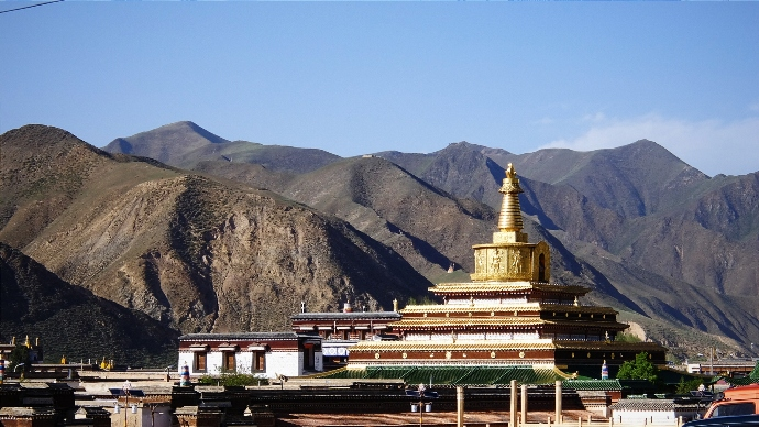 Монастырь Лабранг, юг провинции Ганьсу