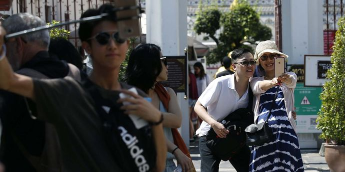 Tourists visit Thailand on Chinese New Year