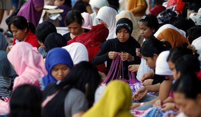 Индонезийские домработницы в Гонконге