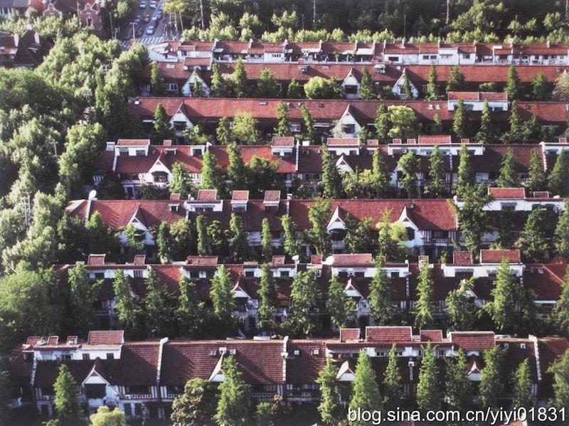 """Вид на ряды домов """"Верден Террас"""" с высоты"""