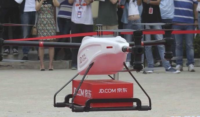 Дрон JD.com доставка по воздуху