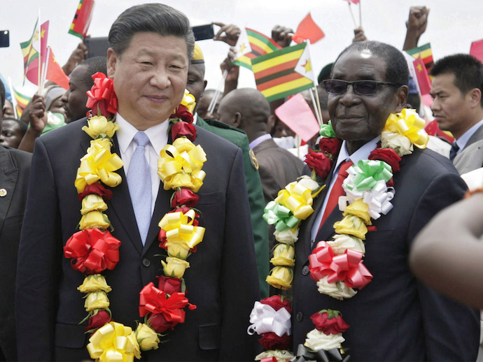 Роберт Мугабе и Си Цзиньпин