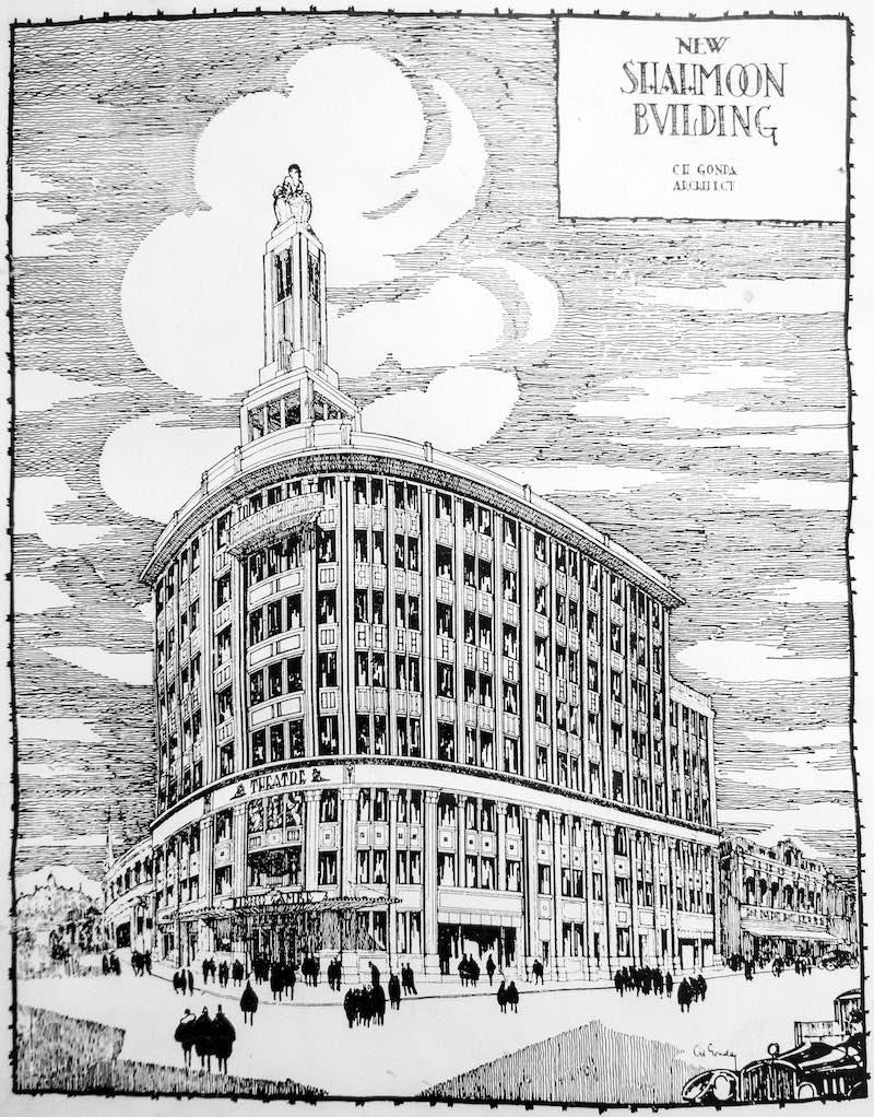 Архитектурный проект кинотеатра Капитоль (с) The China Architects and Builders Compendium (1927)