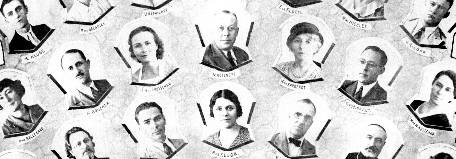 Портрет руководителей и преподавателей в 1934 году (с) В. Д. Жиганов Русские в Шанхае