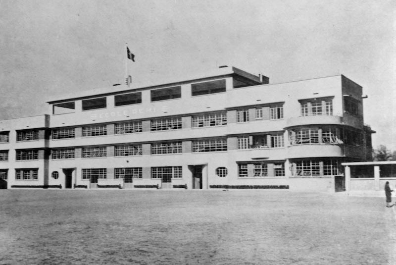 Здание школы вскоре после постройки. Источник: В. Д. Жиганов Русские в Шанхае